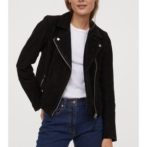 Real Suede biker jacket H&M, Medium. NWT